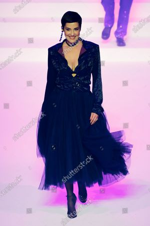 Stock Picture of Cristina Cordula on the catwalk