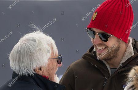 Sebastian Vettel and Bernie Ecclestone during the Kitz Charity Trophy 2020