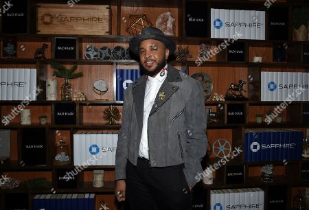 """IMAGE DISTRIBUTED FOR CHASE SAPPHIRE - Director Justin Simien seen at the """"Bad Hair"""" after party at Chase Sapphire on Main during the Sundance Film Festival 2020, in Park City, Utah"""