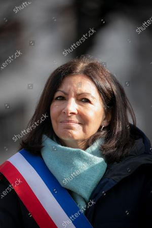 Stock Picture of Paris Mayor Anne Hidalgo