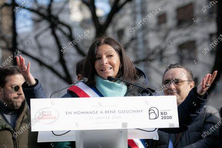 Stock Photo of Paris Mayor Anne Hidalgo