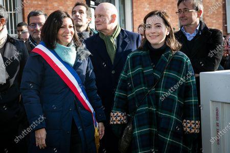 Paris Mayor Anne Hidalgo and Anne Goscinny