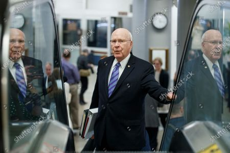 Democratic Senator from Vermont Patrick Leahy in the subway prior to the impeachment trial in the US Capitol in Washington, DC, USA, 24 January 2020. The House impeachment managers will conclude their case for removing President Trump during the third day of opening arguments in the impeachment trial of US President Donald J. Trump.