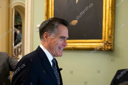 Republican Senator from Utah Mitt Romney walks near the Senate chamber before the Senate impeachment trial in the US Capitol in Washington, DC, USA, 24 January 2020. The House impeachment managers will continue to make their case for removing President Trump during their last full day of opening arguments in the impeachment trial of US President Donald J. Trump.