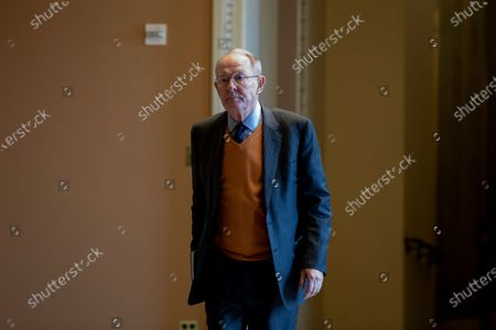 Republican Senator from Tennessee Lamar Alexander walks to the Senate chamber for the Senate impeachment trial in the US Capitol in Washington, DC, USA, 24 January 2020. The House impeachment managers will continue to make their case for removing President Trump during their last full day of opening arguments in the impeachment trial of US President Donald J. Trump.