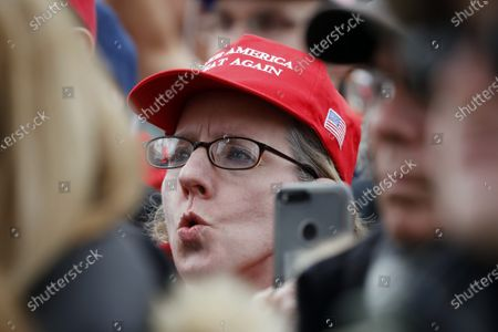Stock Image of Thousands of participants listen to remarks by US President Donald J. Trump at the 47th annual March for Life on the National Mall in Washington, DC, USA, on 24 January 2020.