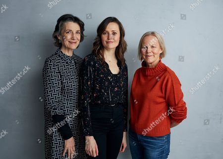 "Harriet Walter, Clare Dunne, Phyllida Lloyd. Harriet Walter, from left, Clare Dunne, and director Phyllida Lloyd pose for a portrait to promote the film ""Herself"" at the Music Lodge during the Sundance Film Festival, in Park City, Utah"
