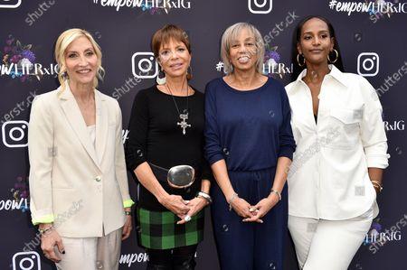 Jacqueline Saturn, Sylvia Rhone, Gail Mitchell and Ethiopia Habtemariam
