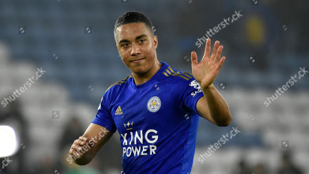 Leicester's Youri Tielemans during the English Premier League soccer match between Leicester City and West Ham at the King Power Stadium in Leicester, England