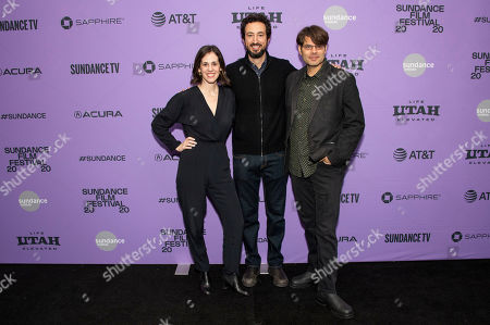 "Elyse Steinberg, Josh Kriegman, Eli Despres. From left, directors Elyse Steinberg, Josh Kriegman, and Eli Despres attend the premiere of ""The Fight"" at the MARC Theater during the 2020 Sundance Film Festival, in Park City, Utah"