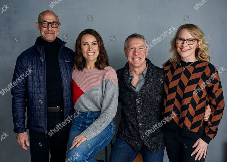 "Stanley Tucci, Laura Benanti, Tate Donovan, Amy Ryan. Stanley Tucci, from left, Laura Benanti, Tate Donovan and Amy Ryan pose for a portrait to promote the film ""Worth"" at the Music Lodge during the Sundance Film Festival, in Park City, Utah"