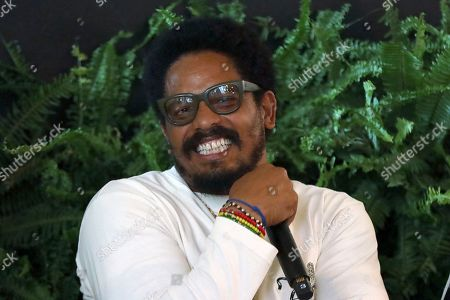 Rohan Marley participates in the Q&A panel at the Marley Brunch with Marley Family Members at the 1 Hotel West Hollywood, in West Hollywood, Calif