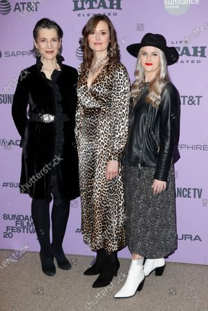 British actress Harriet Walter (L), Irish actress Clare Dunne (C) and Irish actress Ericka Roe arrive for the premier of 'Herself' at the 2020 Sundance Film Festival in Park City, Utah, USA, 24 January 2020. The festival runs from 22 January to 02 February 2020.