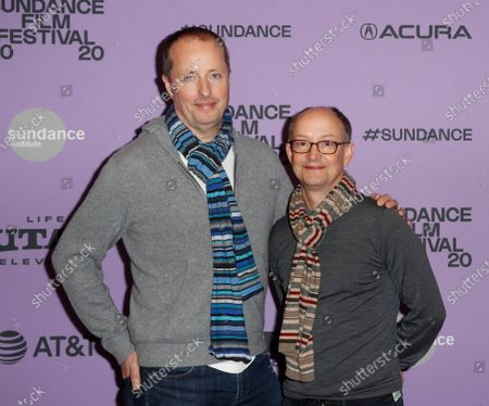 Stock Image of Producers Andrew Lowe (L) and Ed Guiney arrive for the premier of 'Herself' at the 2020 Sundance Film Festival in Park City, Utah, USA, 24 January 2020. The festival runs from 22 January to 02 February 2020.