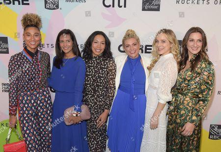 Ally Love, Lauren Salem, Keisha Dixon, Bethany D'Meza, Jenny Mollen and Lauren Silverstein Netter