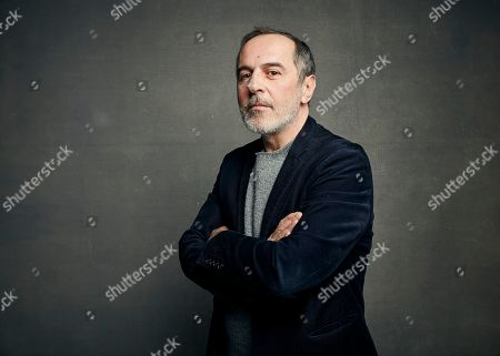 """Merab Ninidze poses for a portrait to promote the film """"Ironbark"""" at the Music Lodge during the Sundance Film Festival, in Park City, Utah"""