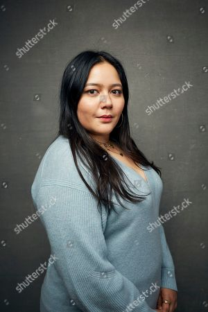 """Shivani Rawat poses for a portrait to promote the film """"Wander Darkly"""" at the Music Lodge during the Sundance Film Festival, in Park City, Utah"""