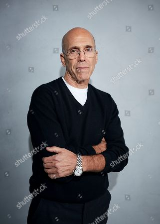 """Stock Picture of Jeffrey Katzenberg poses for a portrait to promote """"Quibi"""" at the Music Lodge during the Sundance Film Festival, in Park City, Utah"""