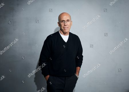 """Stock Photo of Jeffrey Katzenberg poses for a portrait to promote """"Quibi"""" at the Music Lodge during the Sundance Film Festival, in Park City, Utah"""