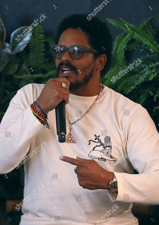Stock Image of Rohan Marley participates in the Q&A panel at the Marley Brunch with Marley Family Members at the 1 Hotel West Hollywood, in West Hollywood, Calif