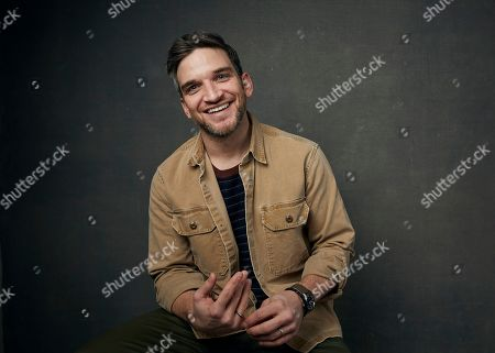 """Evan Jonigkeit poses for a portrait to promote the film """"The Night House"""" at the Music Lodge during the Sundance Film Festival, in Park City, Utah"""