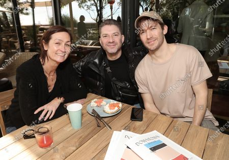 Kate Sweetsur, Andrew Gould and Matt Rad attend the Downtown Grammy Brunch