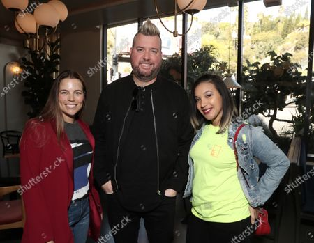 Jody Klein, Dave Aude and Christina Chavez attend the Downtown Grammy Brunch
