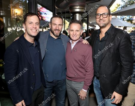 Stock Picture of Jonathan Eshak, Andrew Bergman, Charles Goldstuck and Jonathan Dworkin attend the Downtown Grammy Brunch