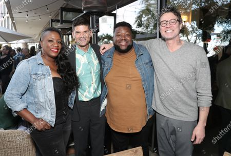 Tanya Blount-Trotter, Will Mccormick, Michael Trotter Jr. and Craig Borten attend the Downtown Grammy Brunch