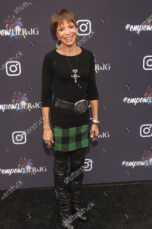 US music industry executive Sylvia Rhone poses on the red carpet at the Instagram's Grammy Luncheon at Ysabel in Los Angeles, California, USA, 24 January 2020.