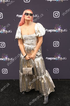 British Cambodian musical artist Liza Owen poses on the red carpet at the Instagram's Grammy Luncheon at Ysabel in Los Angeles, California, USA, 24 January 2020.
