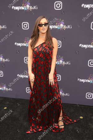 Stock Photo of US musical artist Njomza poses on the red carpet at the Instagram's Grammy Luncheon at Ysabel in Los Angeles, California, USA, 24 January 2020.