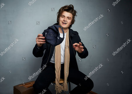 """Joe Keery poses for a portrait to promote the film """"Spree"""" at the Music Lodge during the Sundance Film Festival, in Park City, Utah"""