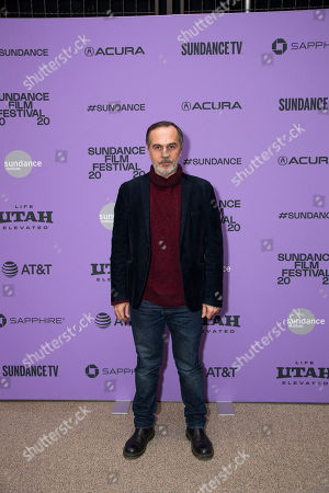 """Stock Image of Merab Ninidze attends the premiere of """"Ironbark"""" at the Eccles Theatre during the 2020 Sundance Film Festival, in Park City, Utah"""