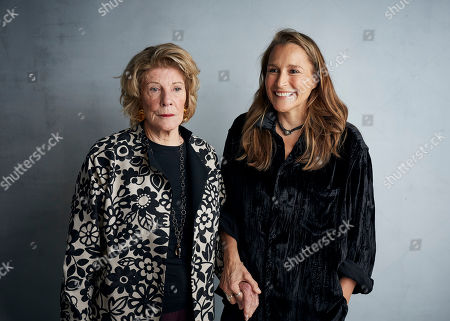 "Stock Image of Agnes Gund, Catherine Gund. Agnes Gund, left, and director Catherine Gund pose for a portrait to promote the film ""Aggie"" at the Music Lodge during the Sundance Film Festival, in Park City, Utah"