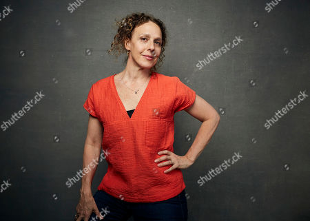 """Rachel Grady poses for a portrait to promote """"Love Fraud"""" at the Music Lodge during the Sundance Film Festival, in Park City, Utah"""