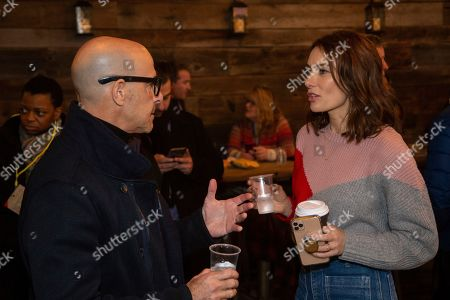 Stanley Tucci, Laura Benanti. Stanley Tucci, from left, and Laura Benanti are seen at the Music Lodge during the Sundance Film Festival, in Park City, Utah