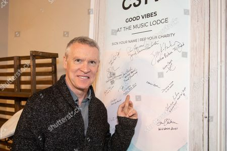 Tate Donovan is seen at the Music Lodge during the Sundance Film Festival, in Park City, Utah