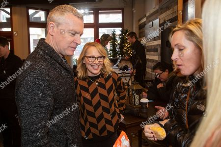 Tate Donovan, Amy Ryan. Tate Donovan, from left, and Amy Ryan are seen at the Music Lodge during the Sundance Film Festival, in Park City, Utah