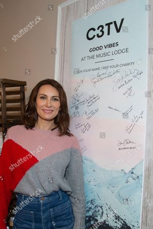 Laura Benanti is seen at the Music Lodge during the Sundance Film Festival, in Park City, Utah
