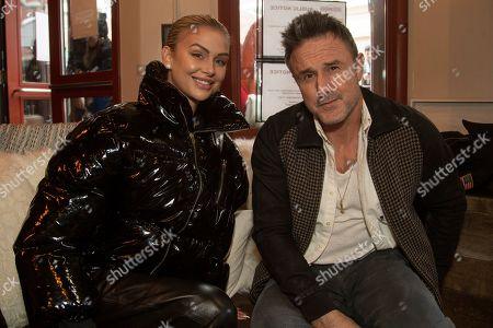 Lala Kent, David Arquette. Lala Kent, from left, and David Arquette are seen at the Music Lodge during the Sundance Film Festival, in Park City, Utah