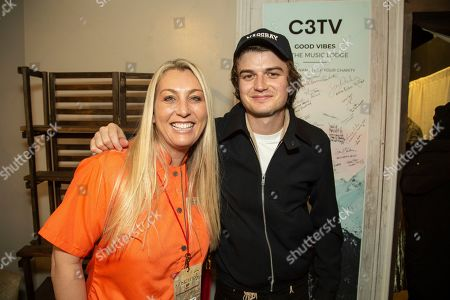 Joe Keery is seen at the Music Lodge during the Sundance Film Festival, in Park City, Utah