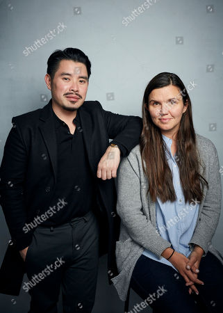 "Stock Photo of Bao Nguyen, Julia Nottingham. Director Bao Nguyen, left, and producer Julia Nottingham pose for a portrait to promote the film ""Be Water"" at the Music Lodge during the Sundance Film Festival, in Park City, Utah"