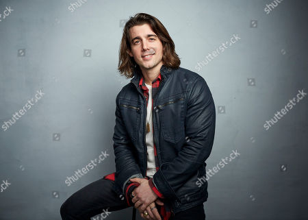 """Stock Image of John DeLuca poses for a portrait to promote the film """"Spree"""" at the Music Lodge during the Sundance Film Festival, in Park City, Utah"""