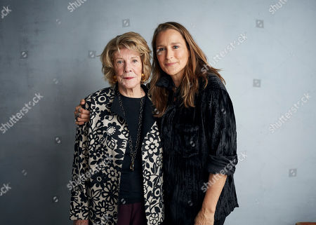 "Agnes Gund, Catherine Gund. Agnes Gund, left, and director Catherine Gund pose for a portrait to promote the film ""Aggie"" at the Music Lodge during the Sundance Film Festival, in Park City, Utah"