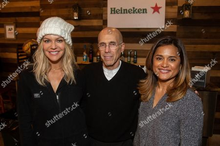 Kaitlin Olson, Jeffrey Katzenberg, Veena Sud. Kaitlin Olson, from left, Jeffrey Katzenberg, and Veena Sun are seen at the Music Lodge during the Sundance Film Festival, in Park City, Utah