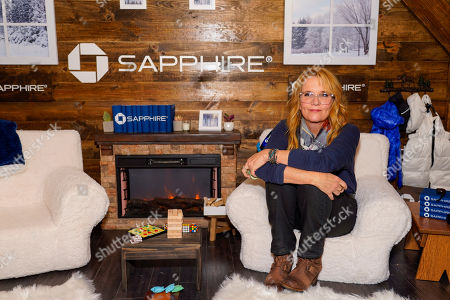 Lea Thompson poses for a photo at the Los Angeles Times Studio at Sundance Film Festival presented by Chase Sapphire, in Park City, Utah