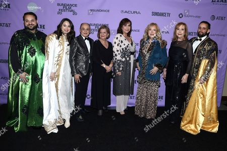 Stock Image of Kareem Tabsch, Cristina Costantini, Willie Acosta, Wilma Torres, Danette Benet Mercado, Betty Benet Mercado, Ivonne Benet Mercado, Alex Fumero. Kareem Tabsch, Cristina Costantini, Willie Acosta, Wilma Torres, Danette Benet Mercado, Betty Benet Mercado, Ivonne Benet Mercado and Alex Fumero attend the Netflix Premiere of MUCHO MUCHO AMOR at Sundance Film Festival on in Park City, Utah