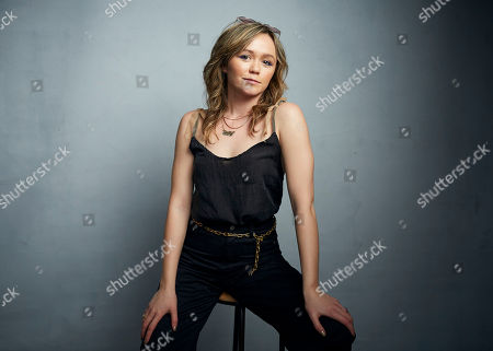"""Emily Skeggs poses for a portrait to promote the film """"Dinner in America"""" at the Music Lodge during the Sundance Film Festival, in Park City, Utah"""