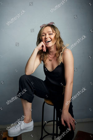 """Stock Image of Emily Skeggs poses for a portrait to promote the film """"Dinner in America"""" at the Music Lodge during the Sundance Film Festival, in Park City, Utah"""